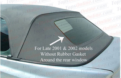 Convertible Tops & Accessories:2001 and 2002 Volkswagen Cabrio & Golf 3